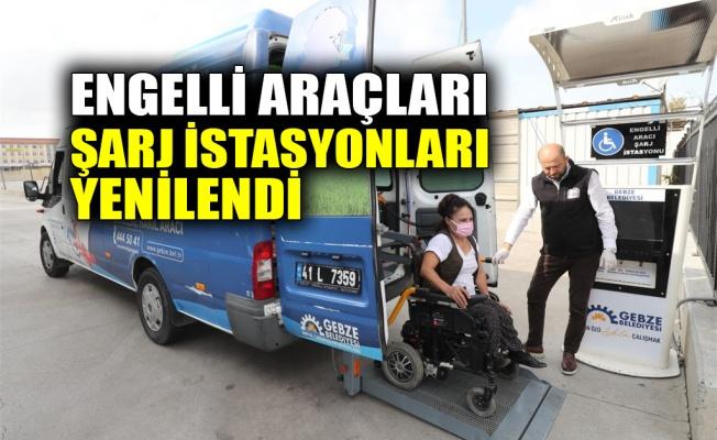 Engelli araçları şarj istasyonları yenilendi