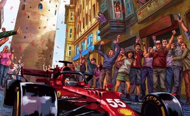 Ferrari'den F1 Türkiye GP'sine özel poster