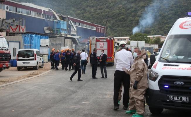 GÜNCELLEME 2 - Bursa'da kimya fabrikasında meydana gelen patlamada 1 işçi öldü, 6 işçi yaralandı
