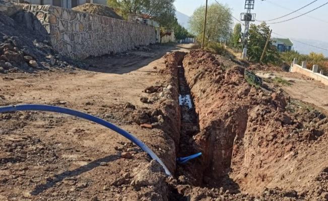 Manisa Salihli ilçesine içme suyu hattı döşeniyor