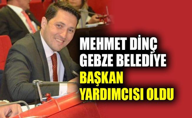 Mehmet Dinç, Gebze Belediye Başkan Yardımcısı oldu
