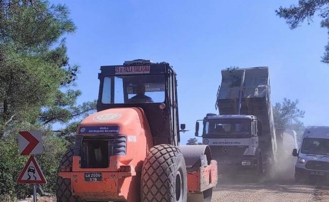 Menteşe'de asfalt çalışması tamamlandı