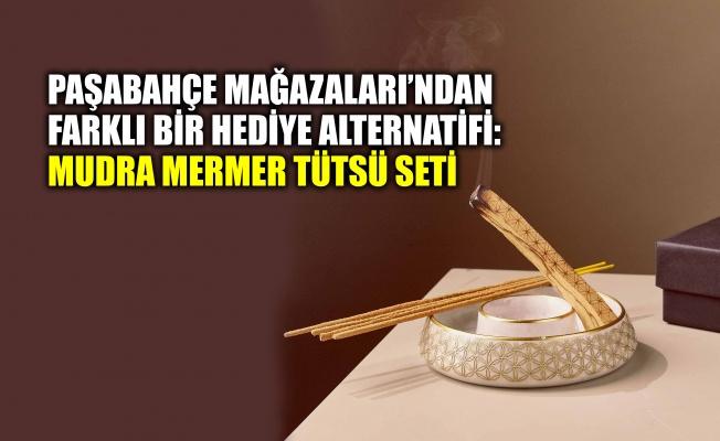 Paşabahçe Mağazaları'ndan farklı bir hediye alternatifi: Mudra Mermer Tütsü Seti