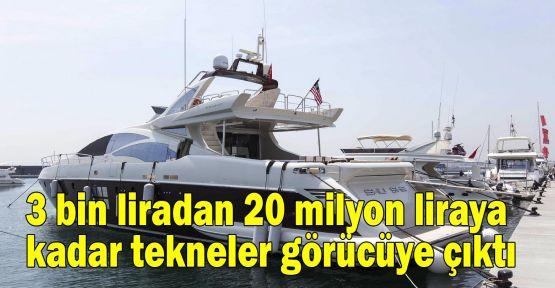 3 bin liradan 20 milyon liraya kadar tekneler CNR Avrasya Boat Show'da görücüye çıktı