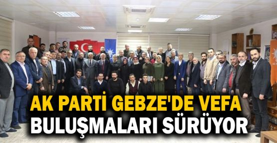 Ak Parti Gebze'de Vefa Buluşmaları devam ediyor