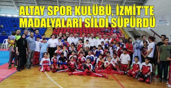 Altay Spor Kulübü madalyaları sildi süpürdü