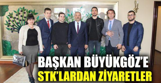 Başkan Büyükgöz'e STK'lardan ziyaretler