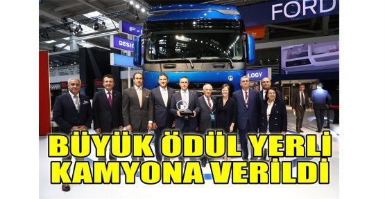 Büyük ödül Türk mühendislerin geliştirdiği yerli kamyona verildi