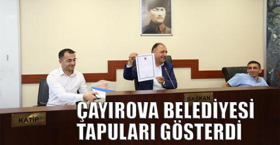 Çayırova Belediyesi tapuları gösterdi