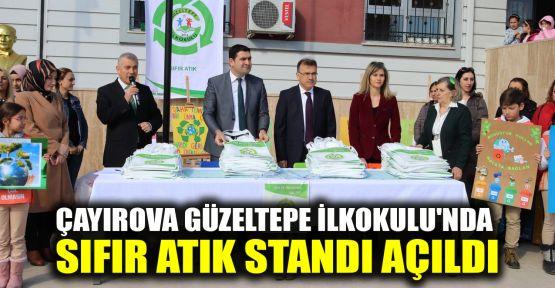 Çayırova Güzeltepe İlkokulu'nda 'Sıfır Atık' standı açıldı