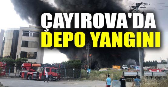 Çayırova'da depo yangını
