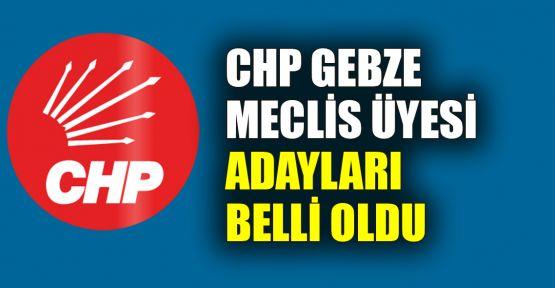 CHP Gebze meclis üyesi adayları belli oldu