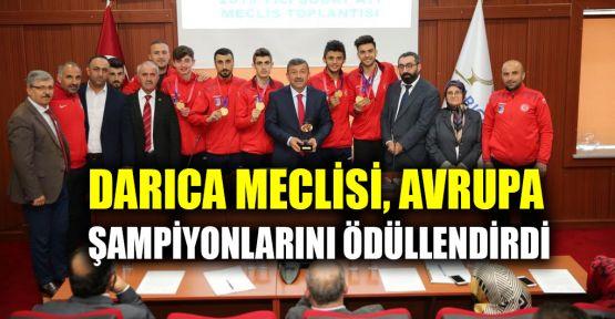 Darıca Meclisi, Avrupa şampiyonu sporcuları ödüllendirdi