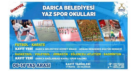 Darıca Yaz Spor Okulları'nda kayıtlar devam ediyor