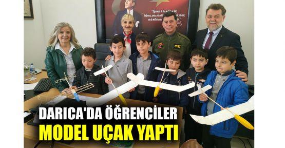 Darıca'da öğrenciler model uçak yaptı