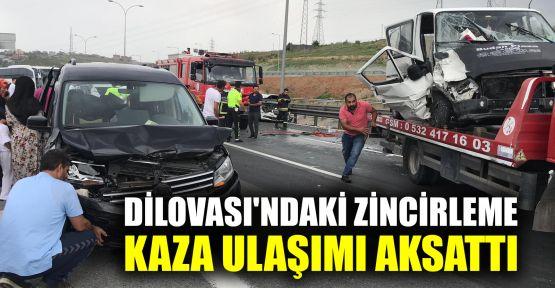 Dilovası'ndaki zincirleme kaza ulaşımı aksattı