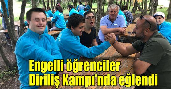 Engelli öğrenciler Diriliş Kampı'nda eğlendi