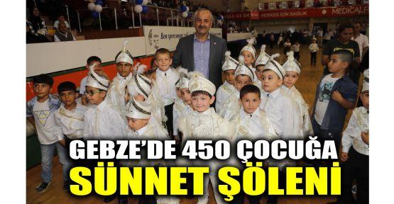 Gebze'de 450 çocuğa sünnet şöleni