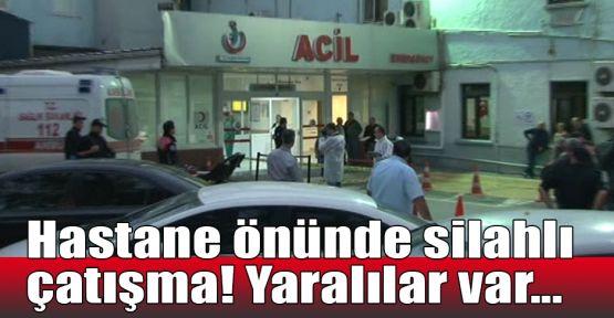 Hastane önünde silahlı çatışma! Yaralılar var...