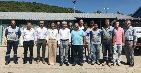 İSU Genel Müdürü Ali Sağlık nöbetçi ekipleri ziyaret etti