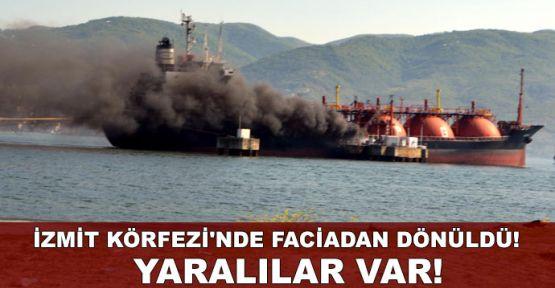İzmit Körfezi açıklarında tanker yangını