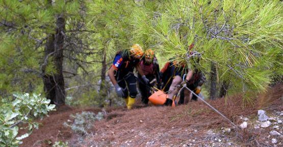 Kanyonda kaybolan kişinin cesedine ulaşıldı