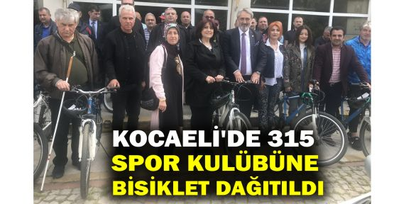 Kocaeli'de 315 spor kulübüne bisiklet dağıtıldı