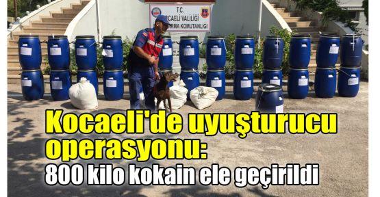 Kocaeli'de uyuşturucu operasyonu: 800 kilo kokain ele geçirildi