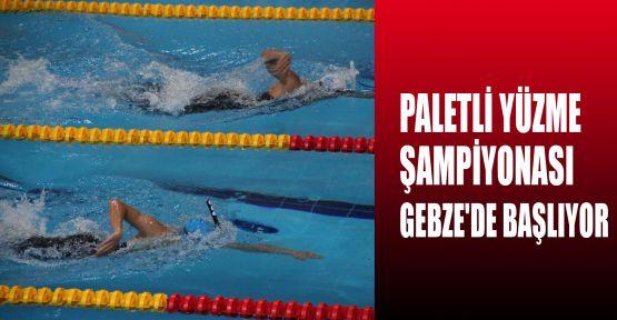 Paletli Yüzme Şampiyonası Gebze'de başlıyor