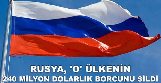 Rusya, 'O' ülkenin 240 milyon dolarlık borcunu sildi