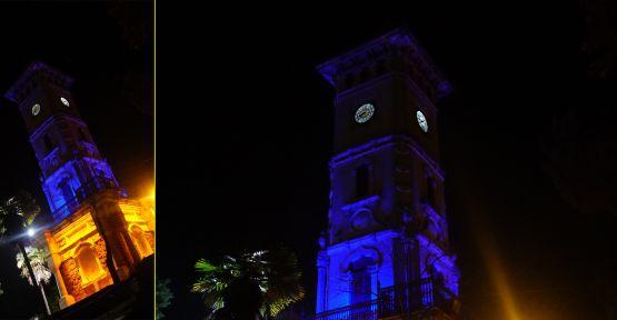 Saat Kulesi çocuk hakları için mavi yanıyor