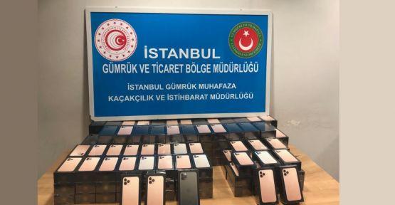 Sabiha Gökçen Havalimanı'nda 179 cep telefonu ele geçirildi