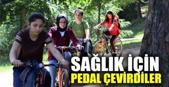 Sağlık için pedal çevirdiler