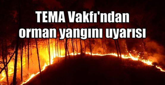 TEMA Vakfı'ndan orman yangınları uyarısı