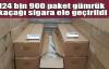 124 bin 900 paket gümrük kaçağı sigara ele geçirildi