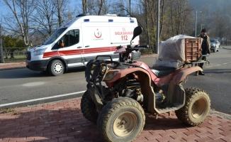 ATV devrildi: 1 yaralı