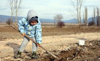 Büyükşehrin stresinden uzaklaşıp Bilecik'te köy hayatının tadına vardılar