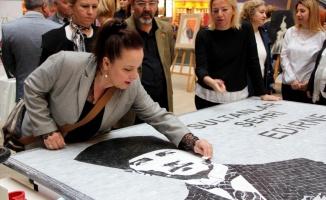 5 bin taşla Atatürk'ün resmedildiği mozaik tablo yapıldı