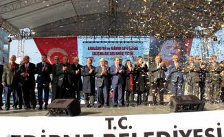 Edirne'de altyapı çalışmaları düzenlenen törenle başladı