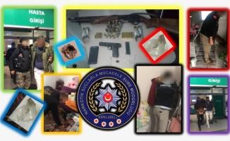 Uyuşturucu operasyonunda 16 şüpheli yakalandı