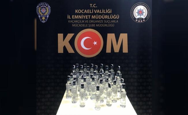 Kocaeli'de 38 şişe kaçak içki ele geçirildi