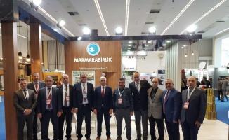 Marmarabirlik yöneticileri Türkiye Kooperatifler Fuarı'na katıldı