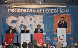 Saadet Partisi Genel Başkan Yardımcısı Fatih Aydın Çorlu'da
