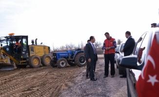 Vali Şentürk, köylerdeki çalışmaları inceledi