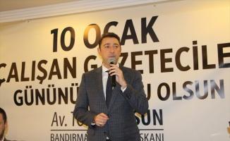 Bandırma'da 10 Ocak Çalışan Gazeteciler Günü kutlaması