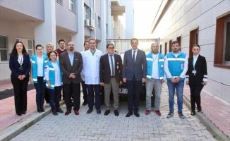 Bandırma'da evde sağlık hizmeti için alınan araç hastaneye teslim edildi
