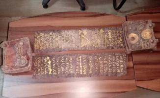 Ceylan derisi üzerine yazılmış Tevrat ele geçirildi