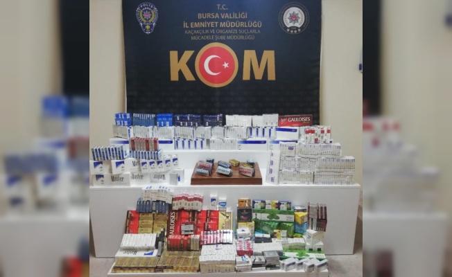 Bursa'da kaçak sigara, nargile tütünü ve ilaç ele geçirildi