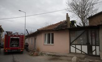Edirne'de baca yangını itfaiye tarafından söndürüldü