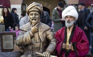 Edirne'de Mimar Sinan heykelinin yer aldığı fotoğraf çekim noktası kuruldu